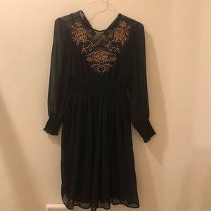 Black Embroidered ZARA dress